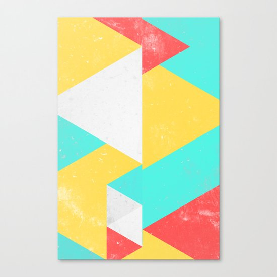 Triangle Pattern I Canvas Print