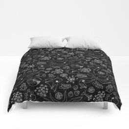 Cephalopods - Black and White Comforters