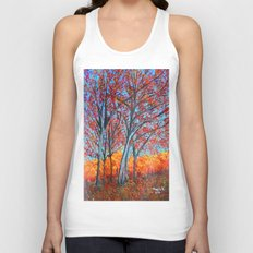 Red forest  Unisex Tank Top