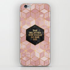 She believed she could so she did iPhone & iPod Skin