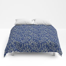 Into The Palms - Blue and Tan Comforters