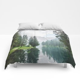Forest Reflection in Italy Comforters