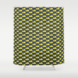 Umbrella of Sunshine Yellow Shower Curtain