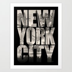 New York City Type Art Print