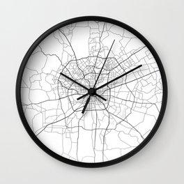 San Antonio street map Wall Clock