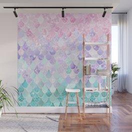 Mermaid Pastel Iridescent Wall Mural