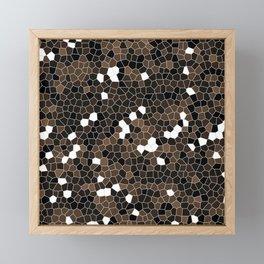 Coffee Brown Polycamo Framed Mini Art Print