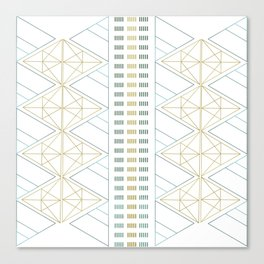 Gold Aqua Geometric Pattern 1.0 Canvas Print