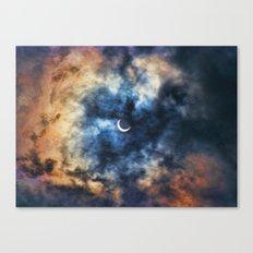Night Moves - Partial Solar Eclipse Canvas Print