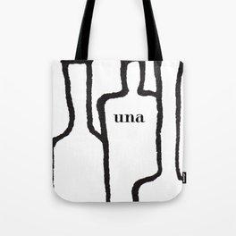 Una white Tote Bag