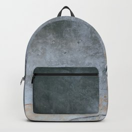 GREY METAL HANDRAIL ON STAIRCASE Backpack