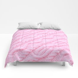 Light Pink Cableknit Sweater Comforters