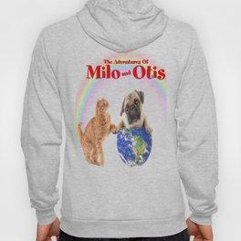 Milo And Otis Take On The World Hoody