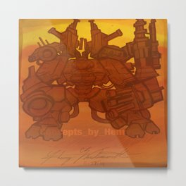 """""""The Living Tank"""" created by: Henry Wardsworh aka Concepts_By_Henry Metal Print"""