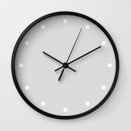 Dots Silver Wall Clock