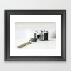 Nature's elements love photography Framed Art Print