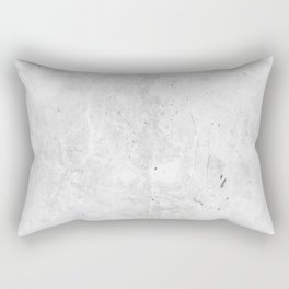 White Light Gray Concrete Rectangular Pillow