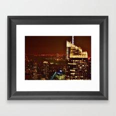 City of Blinding Lights Framed Art Print
