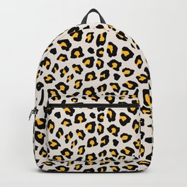 Leopard Print - Mustard Yellow Backpack