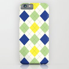 Argyle Plaid in Blue, Green and Yellow Slim Case iPhone 6s