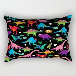 Joyful Dinosaurs World - BK Rectangular Pillow