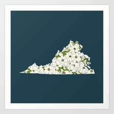 Virginia in Flowers Art Print