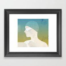Winter Swim Framed Art Print