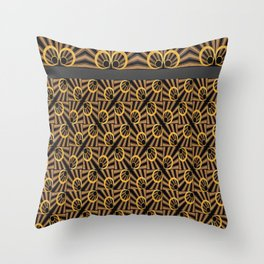 ArtDéco gold Throw Pillow