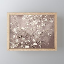 Van Gogh Almond Blossoms Beige Taupe Framed Mini Art Print