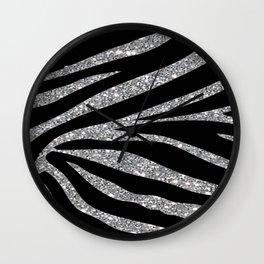 Zebra Glitter Wall Clock