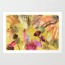 Tropical Foliage 07 Autumn Color Art Print