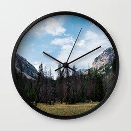 Rocky Mountain Trails Wall Clock
