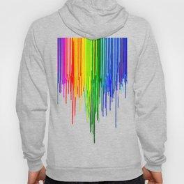 Rainbow Drips Gray Hoody