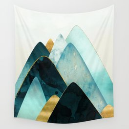 Gold and Blue Hills Wall Tapestry