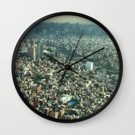 View of Tokyo from Skytree Wall Clock