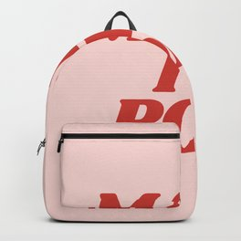 Make it Pop fun bright colorful typography in peachy pink and red home wall bedroom decor Backpack