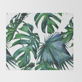 Tropical Palm Leaves Classic II Throw Blanket