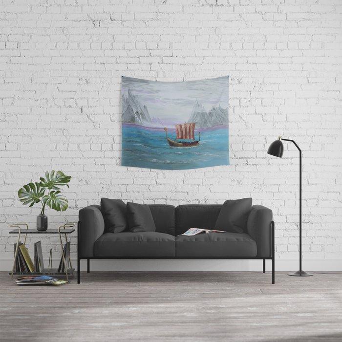 Viking Boat Wall Tapestry