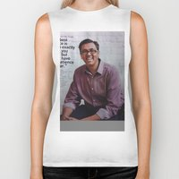 steve jobs Biker Tanks featuring Steve Jobs  by Startuo Quote