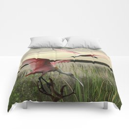 The Spoonbills of Lake Saint George Comforters