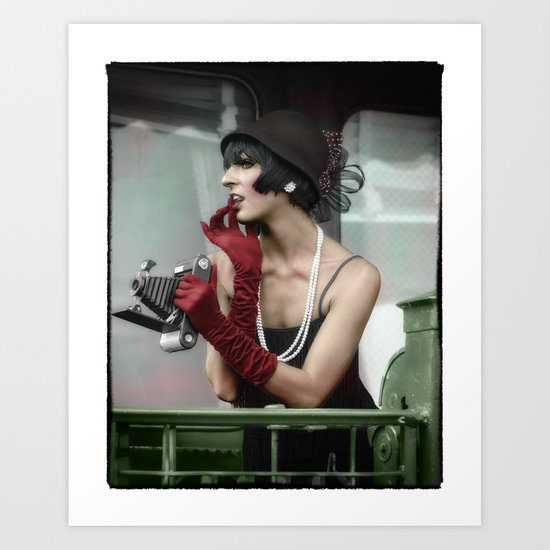Vintage flapper from the 1920's Art Print