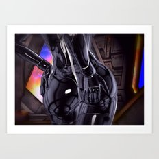 Hold on tight for warp speed Art Print