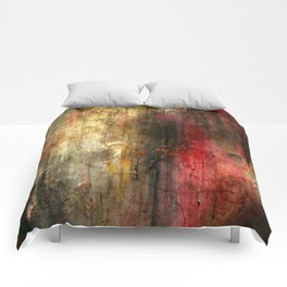 Fall Abstract Acrylic Textured Painting Comforters