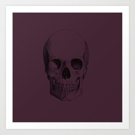 Skull in Fig Art Print