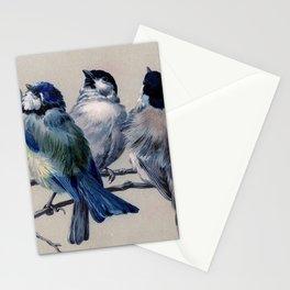 Vintage Cute Blue Birds on Branch Stationery Cards