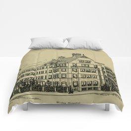 Wesley Hospital 1888 Comforters