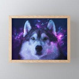 Galaxy Siberian Husky Framed Mini Art Print