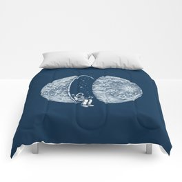 Chilling in Space Comforters