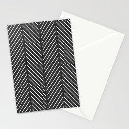 Diagonal Mudcloth Gray Stationery Cards