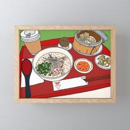 Happy Dim Sum Platter Framed Mini Art Print